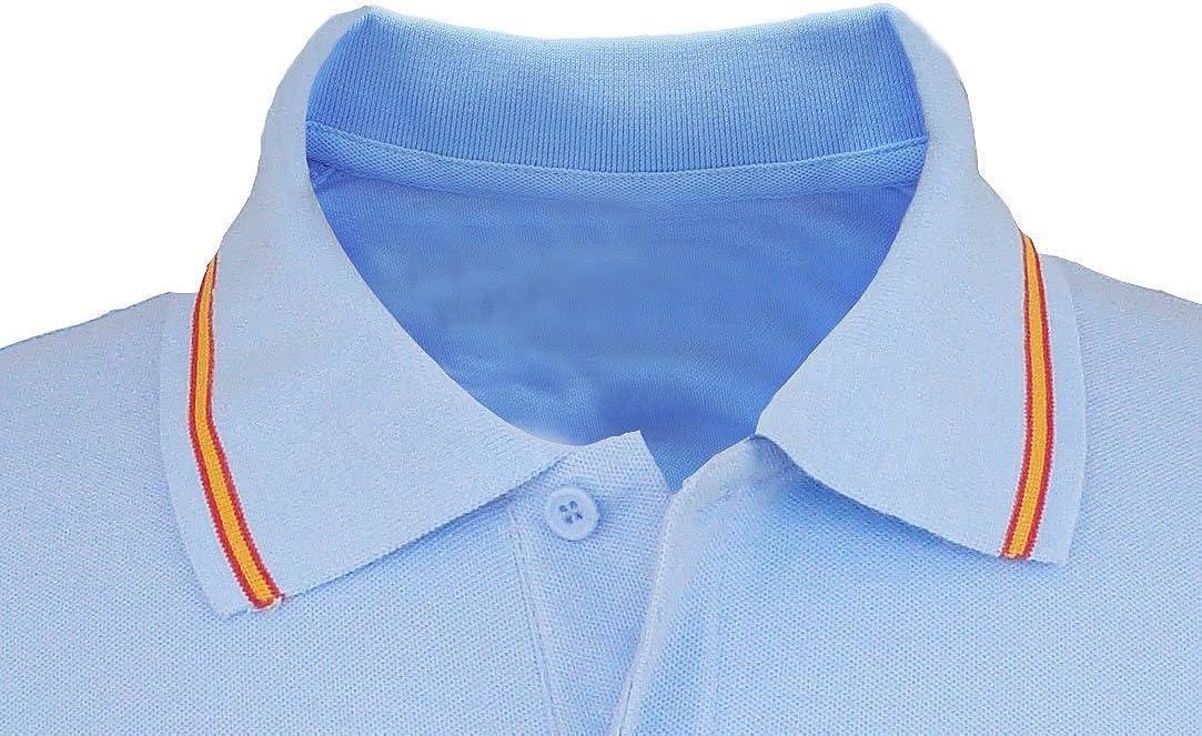Pi2010 – Polo Patrulla Águila para Hombre, Color Celeste, Bandera ...