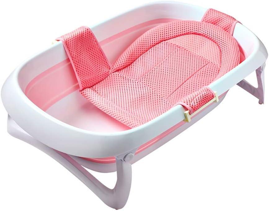 ベビーシャワートレイ、ポータブルバスタブ、子供用折りたたみシャワートレイ、0〜3歳の赤ちゃんに最適、豪華な折りたたみ式新生児浴槽、バスタブ、2色(色:PINK)