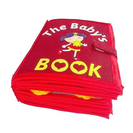 Superlove Livre En Tissu Pour Enfant Lavable Non Toxique Jouets Non Tisses Livre Manuel 3d Jouet Cognitif D Education Precoce Pour Les Bambins Enfants