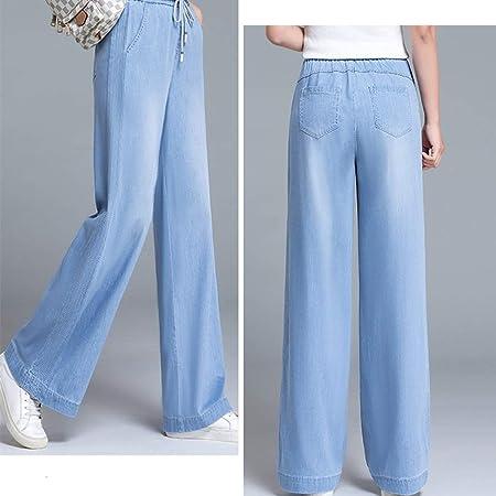 Zhounan Pantalones Vaqueros Tencel Pantalones Anchos y ...