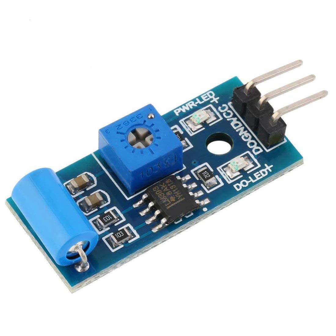 10pcs Normally Closed Type Vibration Sensor SW-420 3.3V-5V Vibration Sensor Alarm Module Motion Shake Shock for Arduino 3.3V-5V Formulaone
