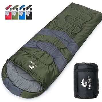 para Camping 210 * 152cm Se Convierte en 2 Sacos Individuales para Todas Las Estaciones TOMSHOO Saco de Dormir Doble Adulto Acampada Excursiones y Actividades al Aire Libre