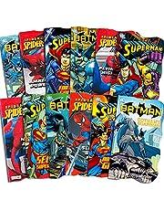 Superhero Board Books Ultimate Set Toddlers Kids - 12 Shaped Board Books Featuring Batman, Superman, Spiderman and More