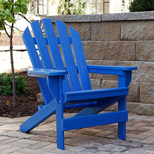 Jayhawk Plastics Recycled Plastic Cape Cod Adirondack Chair