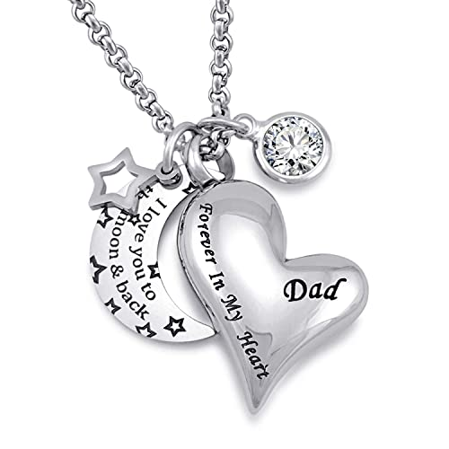3e6364b1d38 YOUFENG Urn Necklaces for Ashes I Love You to The Moon and Back for Dad  Cremation