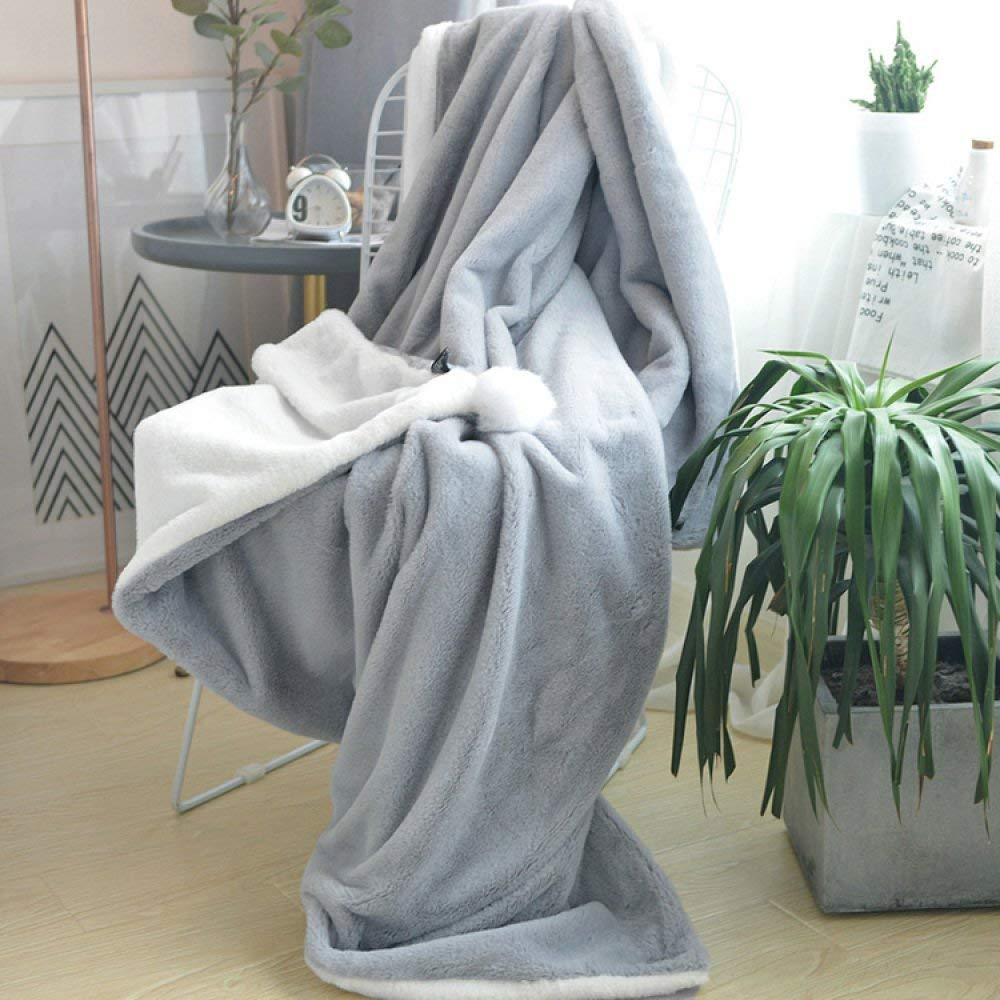 Mabmeiyang ボールBlket秋d冬の暖かいシングルダブルソファオフィスランチカバーBlket (Color : Gray white, サイズ : 100*150cm) B07RJS17LC Gray white 100*150cm
