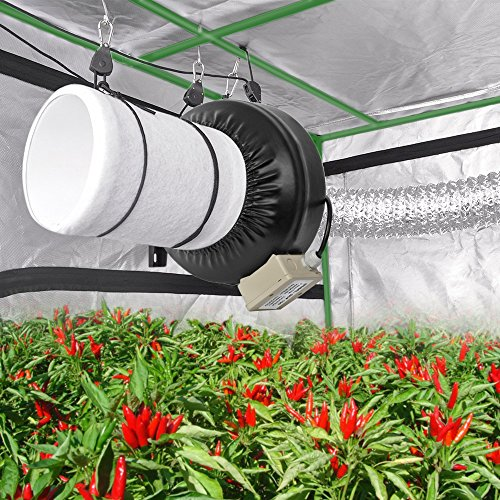 """Amagabeli 48""""x48""""x80"""" Mylar Hydroponic Grow Tent for Indoor Plant Growing 4x4 with Observation Window Removable Floor Tray Reflective Adjustable Rope Hangers Tool Bag Room Box 4 by 4 Indoors Grow Kit"""