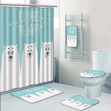 Cute Bathroom Accessories Sets.Amazon Com 5 Piece Bath Accessory Set Bathroom Rugs Shower