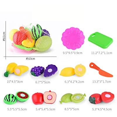 Clothful 10PC Kids Pretend Role Play Kitchen Fruit Vegetable Food Toy Cutting Gift Toy: Home & Kitchen