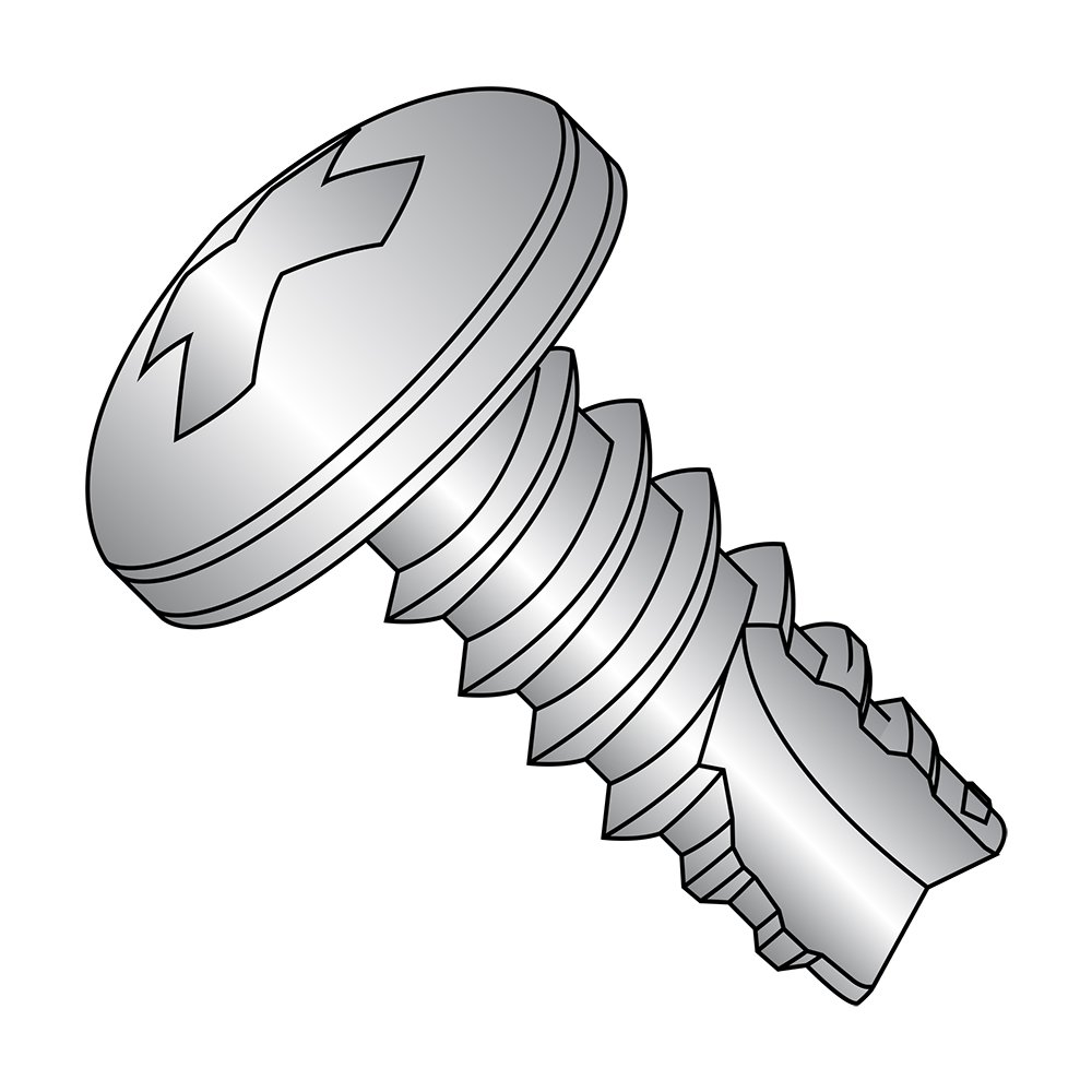 1//4 Length Pack of 100 Plain Finish Pack of 100 1//4 Length Phillips Drive Type 25 Pan Head 18-8 Stainless Steel Thread Cutting Screw Small Parts 04045PP188 #4-24 Thread Size
