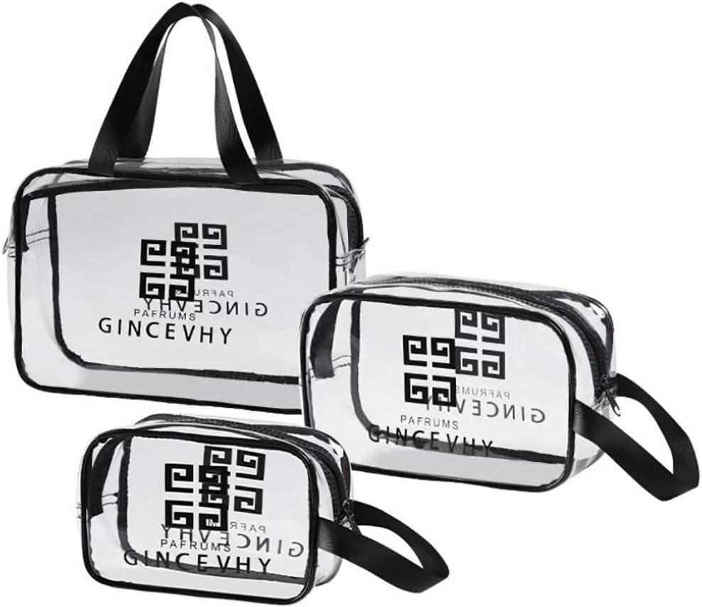 Edary Neceser PVC Transparente Bolsa de Viaje Bolsa de Maquillaje Bolsa de cosm/éticos Bolsa de Ducha Impermeable organizadora para Mujeres Hombres(S)
