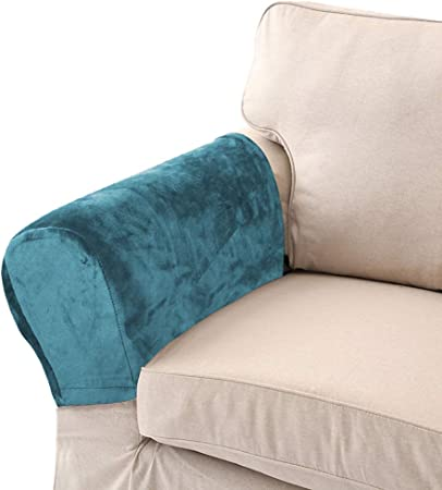 Chair Back Slip Arm Cover Cap Antimacassar Sofa Armchair Protector Wider TEAL