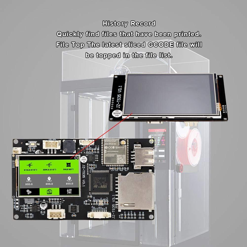 ASHATA Accesorios de Impresora 3D, 3.5 Pulgadas 8 Idiomas WiFi ...