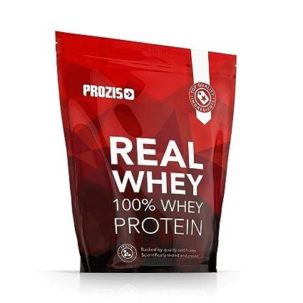 Prozis 100% Real Whey Protein, Suplemento Puro en Polvo con un Perfil Completo de Aminoácidos y Rico en BCAA, Tarta de manzana - 1000 g