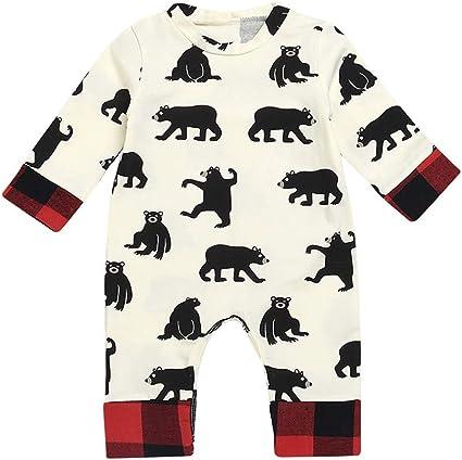 Feidoog Baby Boys and Girls Summer Short Sleeve Pajama Cute Cartoon Romper Outfits