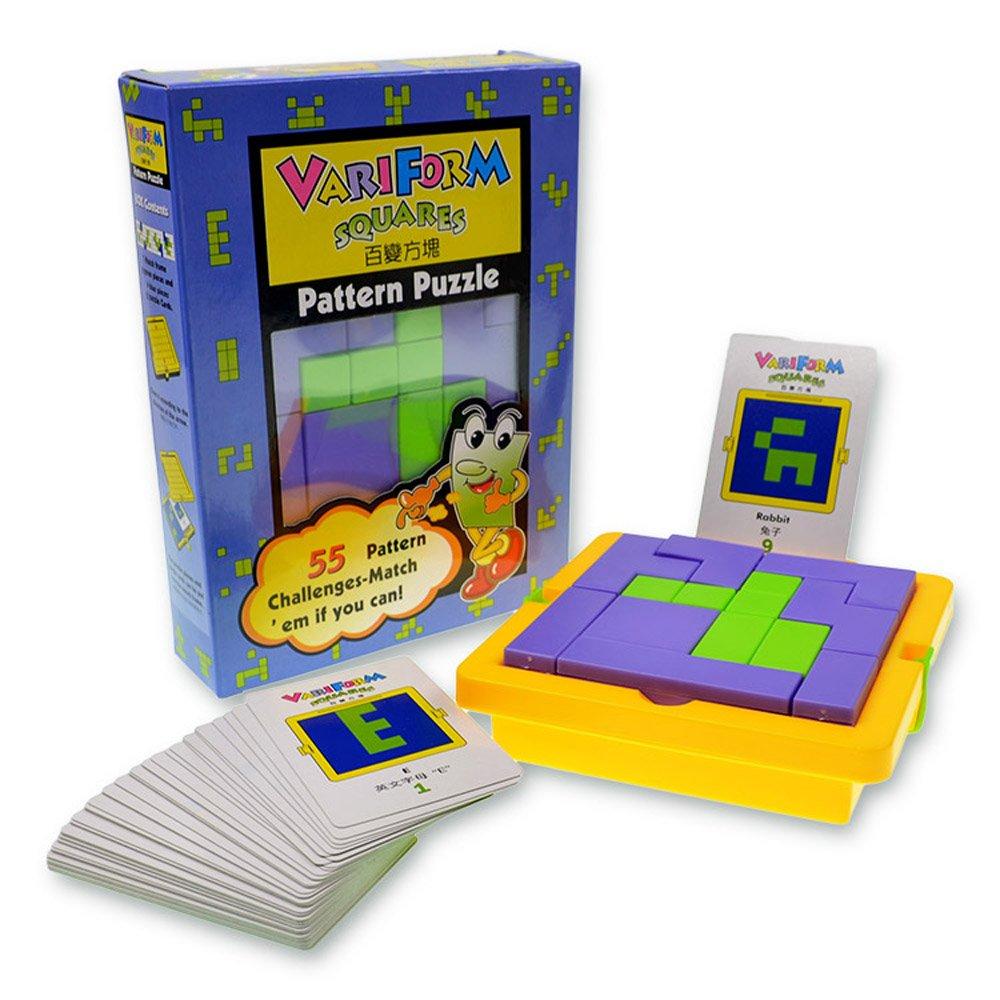 教育パターンパズルBEST FORクリエイティブ学習リソース数学ゲームボード' nブロックのセット – For a Enhance知識人のも楽しいKids ' Brain   B06XRMK2ZC