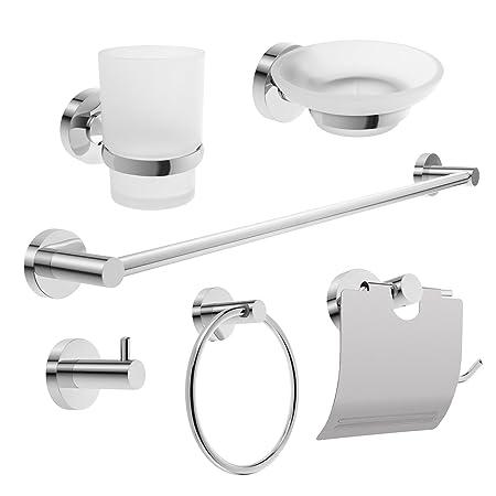 Perfect Savisto Bathrooms U2013 Hampton Wall Mounted Bathroom Accessories Set (6 Pack)