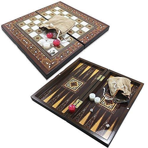 Design Backgammon Set (The 13'' Pyramid Design Backgammon Board Game Set)
