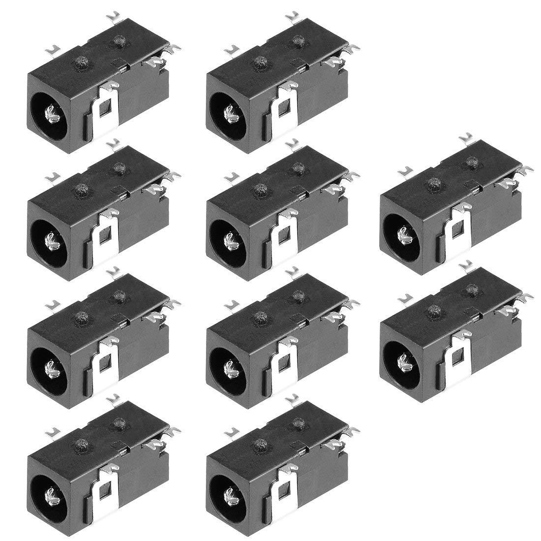 eDealMax 10個PCBマウントDC098 5ピンオーディオビデオDC電源コネクタソケットブラック   B07T232Y89