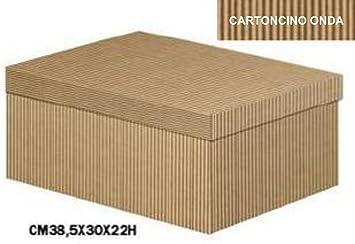 Caja Decorativa para regalos (cartón onda Avana, base y tapa, de conf. de 10 piezas: Amazon.es: Hogar