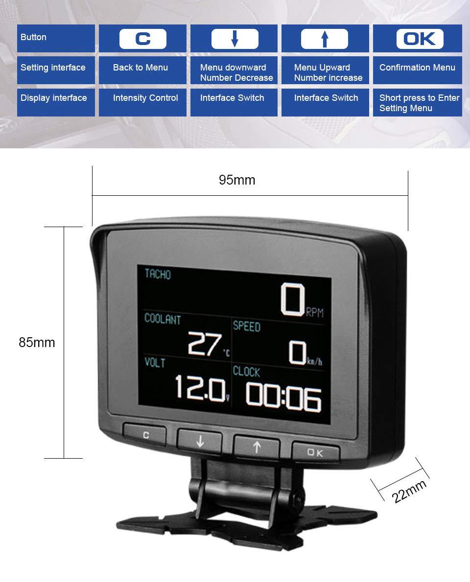 AUTOOL X50 PRO Multi-Function Car OBD Smart Digital Meter & Alarm Fault Code Water Temperature Gauge Digital Voltage Speed Meter Display Support 12V OBDII Diesel Vehicles (X50 PRO) by AUTOOL (Image #1)