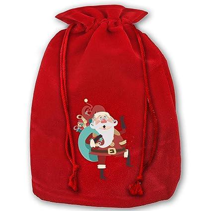 Amazon.com: Pack de 3 bolsas de Navidad de Papá Noel para ...