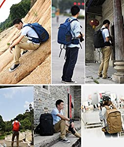 YuHan Large Capacity Multi-function Waterproof Anti-shock SLR/DSLR Camera Bag Professional Travel Backpack Hatchback 15 Inch Laptop Rucksack Inner Padding for Canon Nikon Sony Nikon Olympus