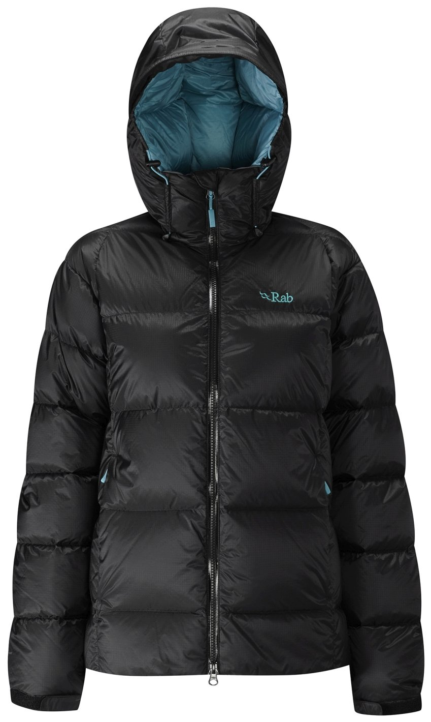 Rab Neutrino Endurance Jacket - Women's Black/Seaglass 8