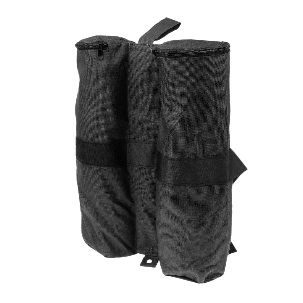 fenteer防風耐久性600dオックスフォード重量Sandバッグ脚重量足のアウトドアキャノピーマーキーStall Pavilion Gazeboアンカーテント – Choice Of色 B077TMLRS1  ブラック