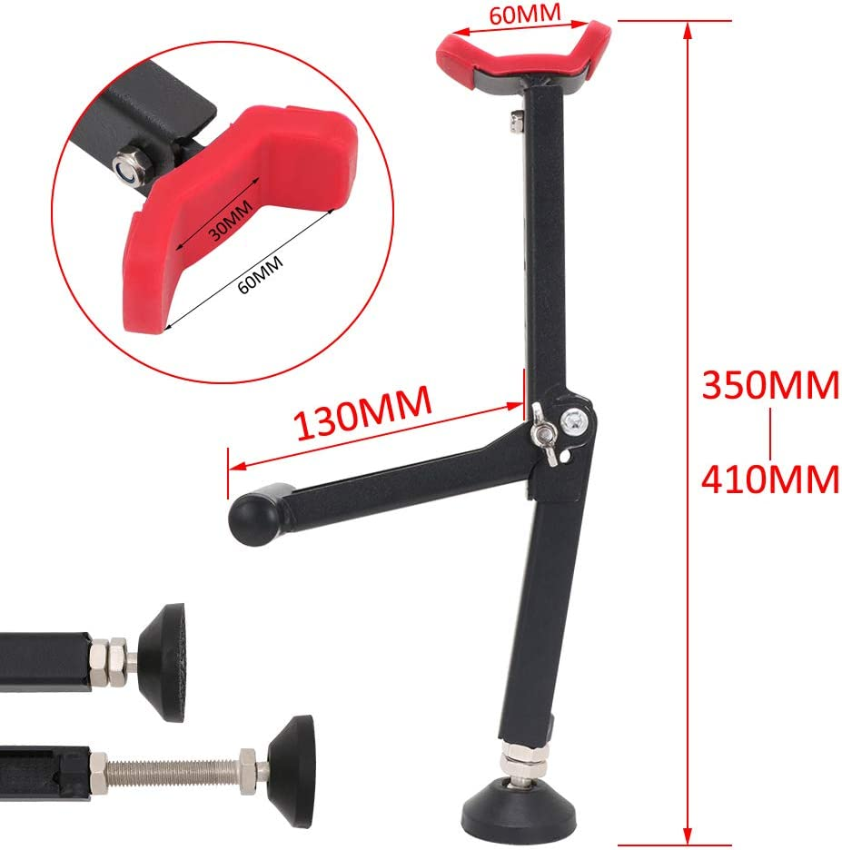 Red Motorcycle Rear Wheel Lift Stand Portable Front And Rear Wheel Stand Paddock Stand Chain Wheel Cleaning Roller Stand Universal Motorbike