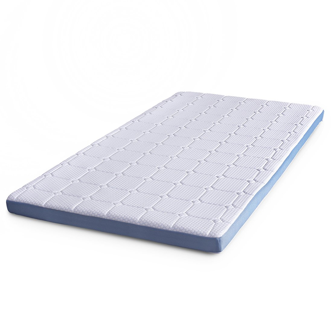 Cr 3-inch Foam Mattress Topper with Ultra Soft Cover, King Size, 75.5'' x 79''