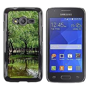 TopCaseStore / la caja del caucho duro de la cubierta de protección de la piel - Nature Beautiful Forrest Green 94 - Samsung Galaxy Ace 4 G313 SM-G313F