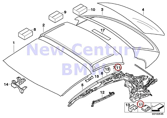 Amazon Com Bmw Genuine Hardtop Retractable Roof Sections Roof