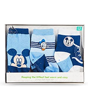 Disney Store Mickey Mouse and Donald Duck Sock Set for Baby 3-Pack