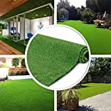 GL Artificial Turf Grass Lawn, Realistic Synthetic Grass Mat, Indoor Outdoor Garden Lawn Landscape for Pets,Fake Faux Grass Rug with Drainage Holes 5 FT x8 FT(40 Square FT)