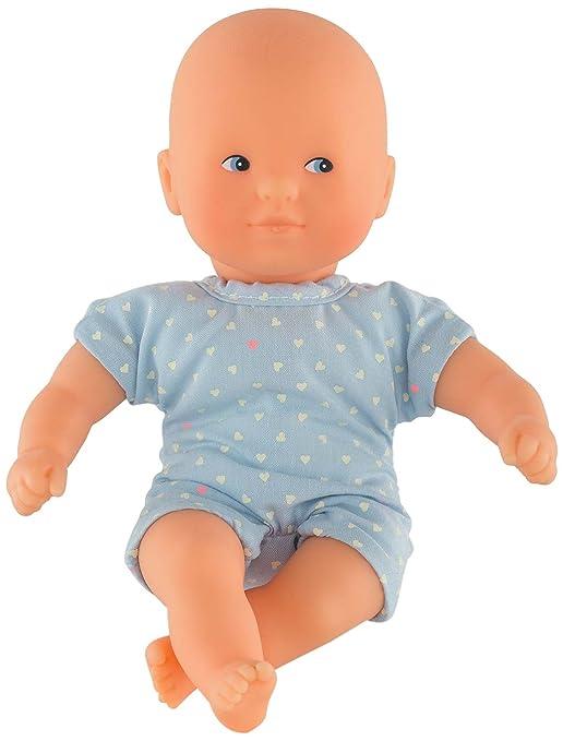 Corolle DLG04 Mini Calin Babypuppe, hellblau, himmelblau, blau, 20 cm