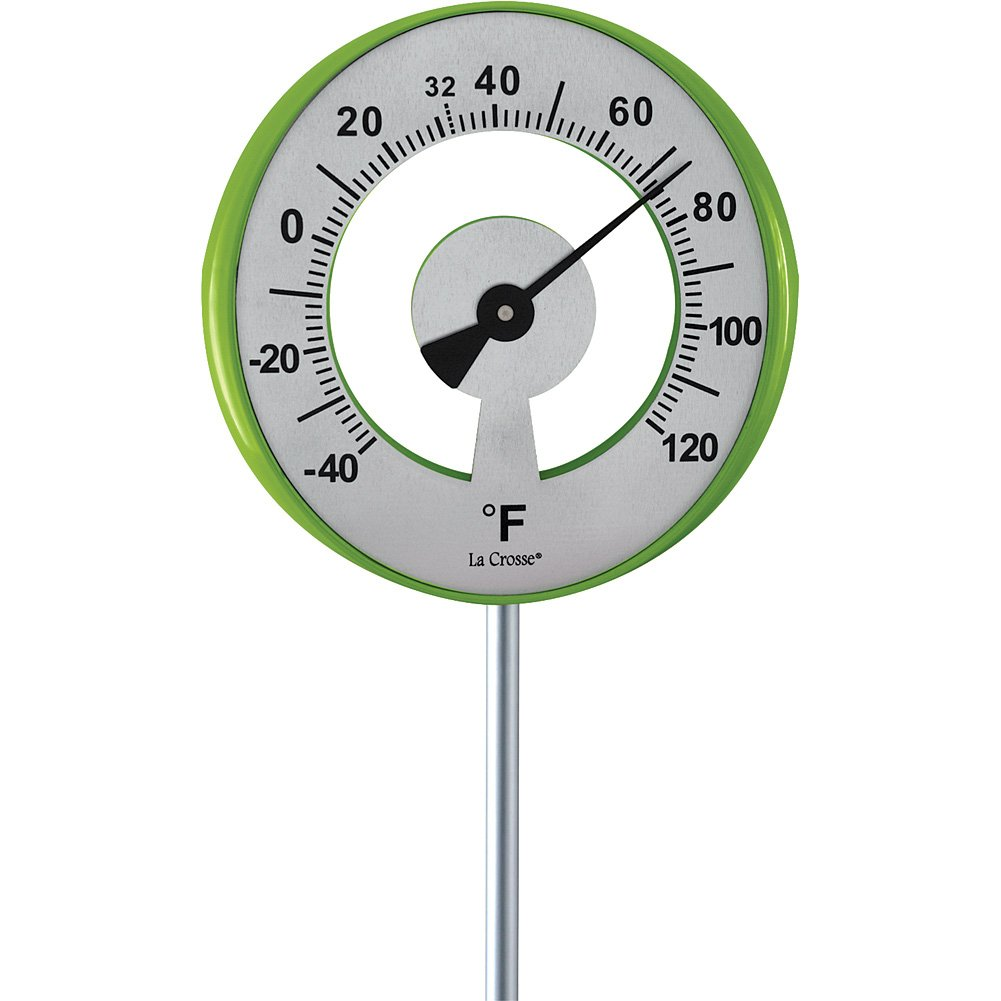 Lollipop Garden Thermometer - Measures From -40 To 120 Degrees Fahrenheit