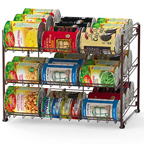 Simple Houseware Stackable Can Rack Organizer, Bronze