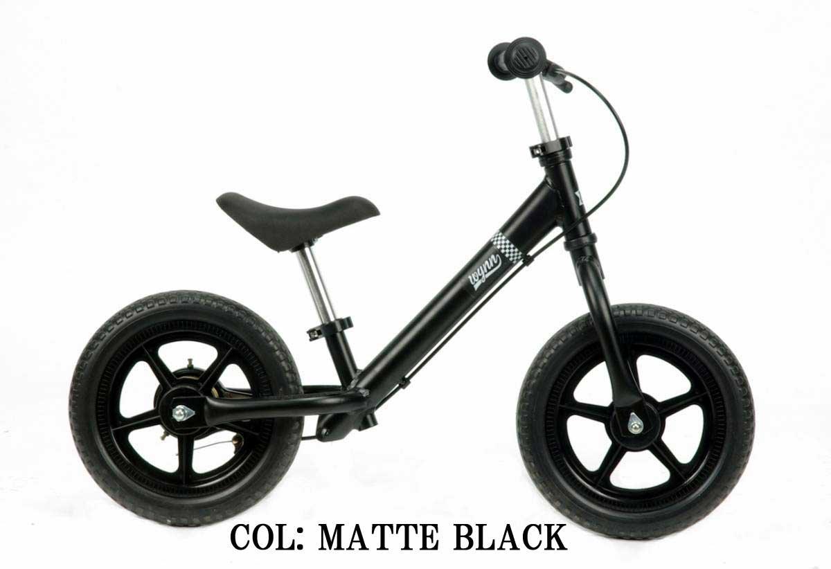 【Wynn 12インチキックバイク】 《RAINBOW Wynn12 12inch》 子供用自転車 B01CCKSSS6 ブラック ブラック