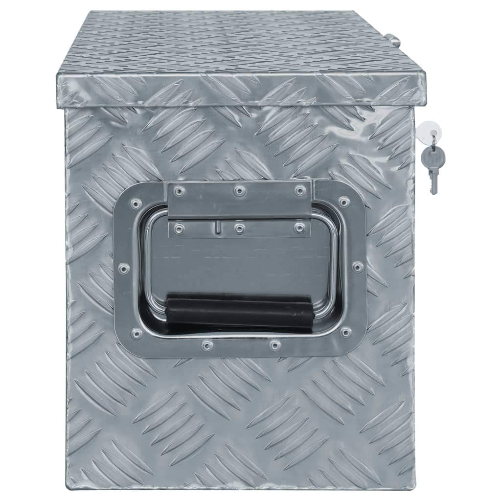 tidyard Caja de Aluminio Multiusos de Resistente a la Corrosi/ón con Sistema de Cierre 61,5 x 26,5x30 cm Cromado