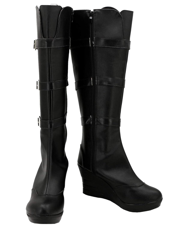Amazon.com GOTEDDY Women\u0027s Black Boots Halloween Cosplay