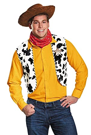 Woody Adult Costume Kit Toy Story Movie Hat Cow Print Vest Bandana Sheriff  Badge  Amazon.es  Juguetes y juegos 6abfe6669ed