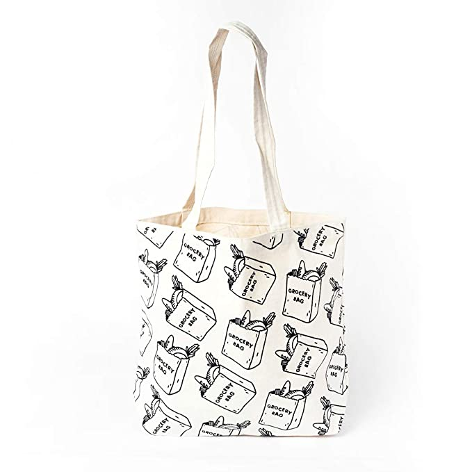 20fbe7629 Amazon.com: Eating Your Feed Grocery Bags Tote Bag: Kitchen & Dining