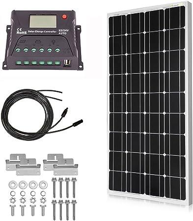 Battery 2*100 Watt Solar Panel 200W 12V or 24 volt Off Grid RV Boat Camper RV