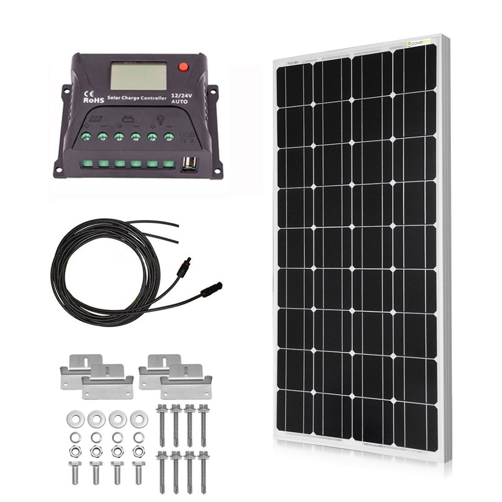 Best Rated In Solar Battery Chargers Charging Kits Helpful 12v Charger Circuit Moreover The Usb Car Powereco 100 Watt Kit For Of Rv And Boat Monocrystalline Panel