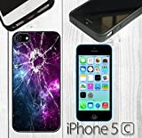 Cracked Screen Prank Custom made Case/Cover/skin FOR iPhone 5C - Black - Rubber Case ( Ship From CA)