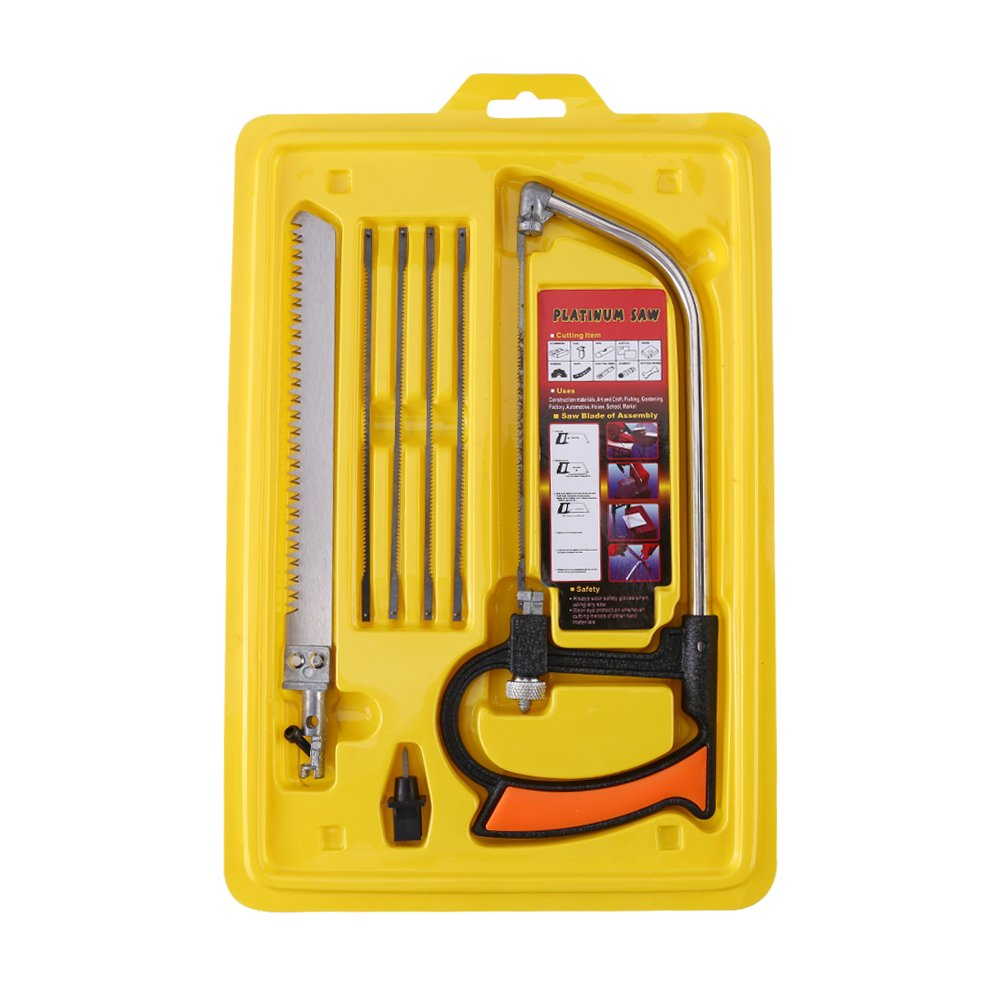 Woodworking Saw Set,Multi-function Household Manual Hacksaw Woodworking Saw Set Cutting Wood/Aluminum/Glass by Walfront