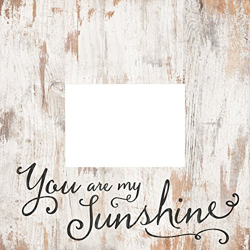 White Photo Plaque - You Are My Sunshine White Wash 5 x 7 Solid Pine Wood Tabletop Wall Plaque Photo Frame
