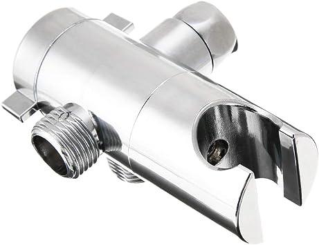 Three-Way Shower Head Diverter Mount Combo Shower Arm Mounted Valve Fix Bracket
