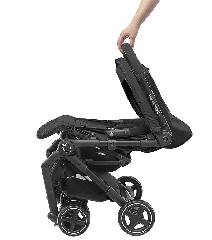 Bébé Confort LARA Nomad Black - Cochecito ultra compacto, desde el nacimiento hasta los 3,5 años, 0-15 Kg, color negro